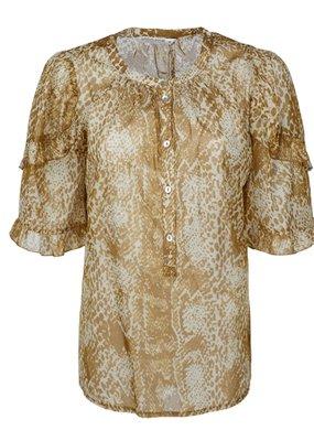 Summum Woman 2s2582-11388 Top ruffles goud Summum