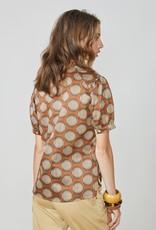 Summum Woman 2s2586-11385 Blouse stippen oranje Summum