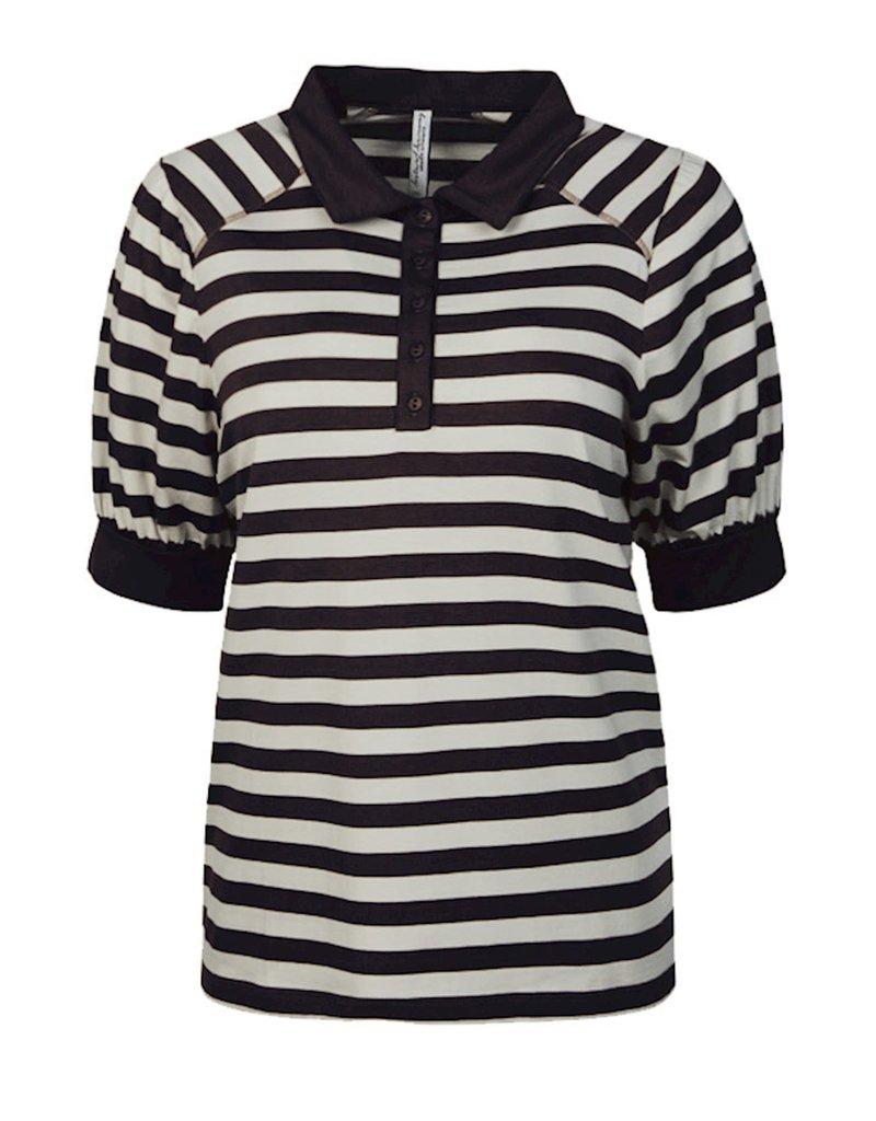 Summum Woman 3s4493-30215 Shirt streep zwart Summum