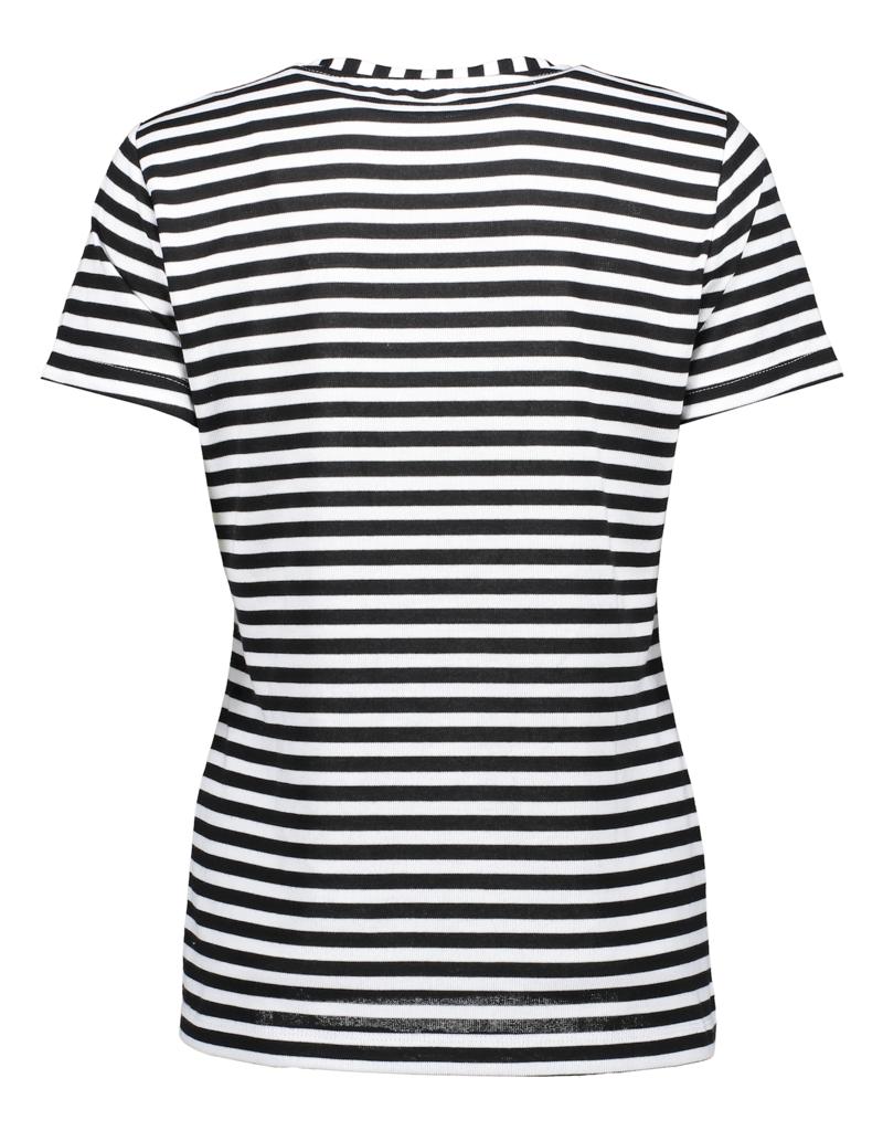 Geisha T-shirt striped Love 12038-40 Offwhite Geisha