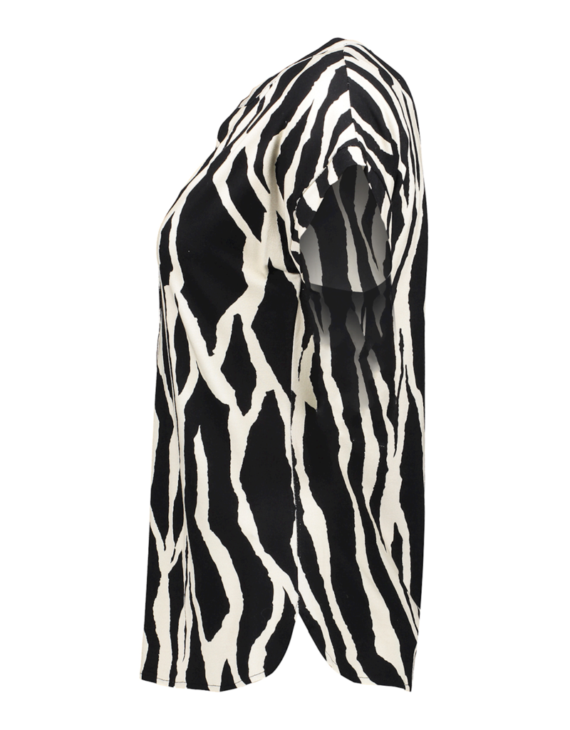 Geisha Top zebra zwart 12071-20 Geisha