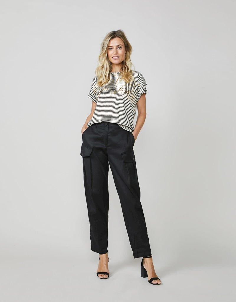 Summum Woman 3s4502-30227 Shirt lurex streep zwart-shell Summum