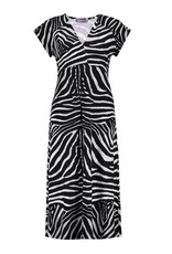 Geisha Jurk long short sleeve 17185-60 JANE Zwart Geisha