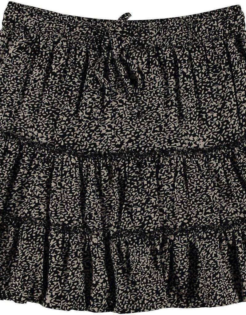 Geisha Rok ruffle minimal print 16040-85 Zwart Geisha