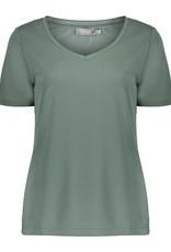 Geisha T-shirt modal solid 12043-40 groen Geisha
