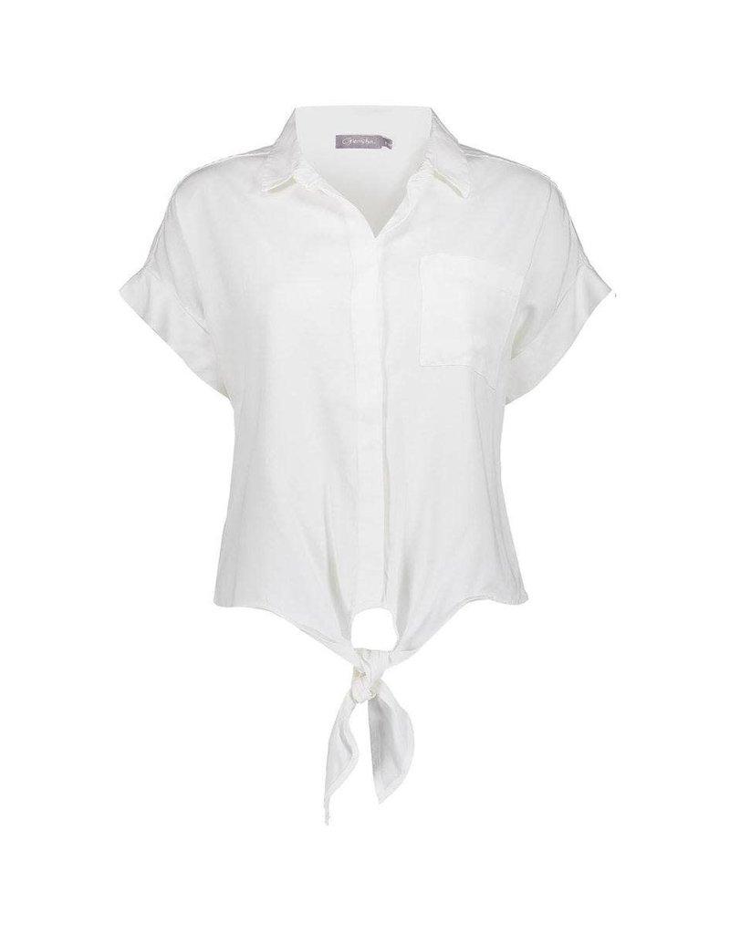 Geisha Blouse + knot White  13002-10 Geisha