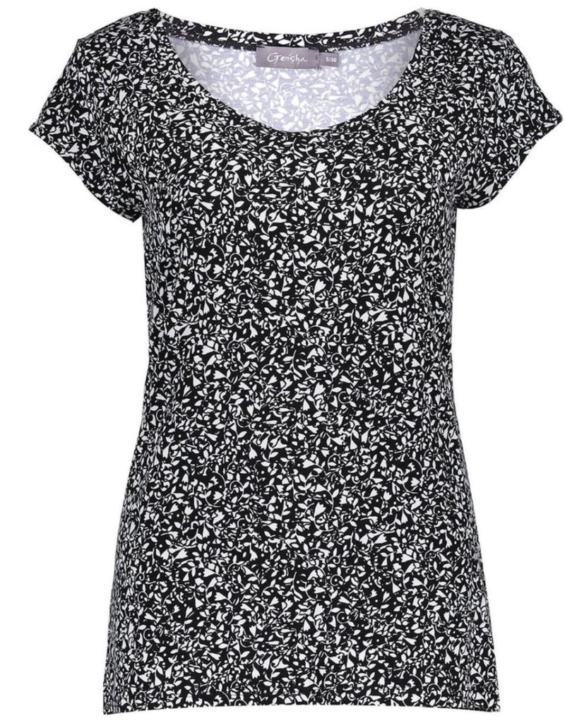 Geisha T-shirt shortsleeve 12130-60 KATE Zwart Geisha