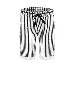 Para Mi SS212.138175 Painted Stripes broek Short zwart Para mi