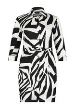 Ophilia Vera jurk Ophilia big dot wit/zwart 101234