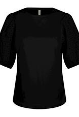 Summum Woman 3s4542-30246 Top pofmouwen zwart Summum
