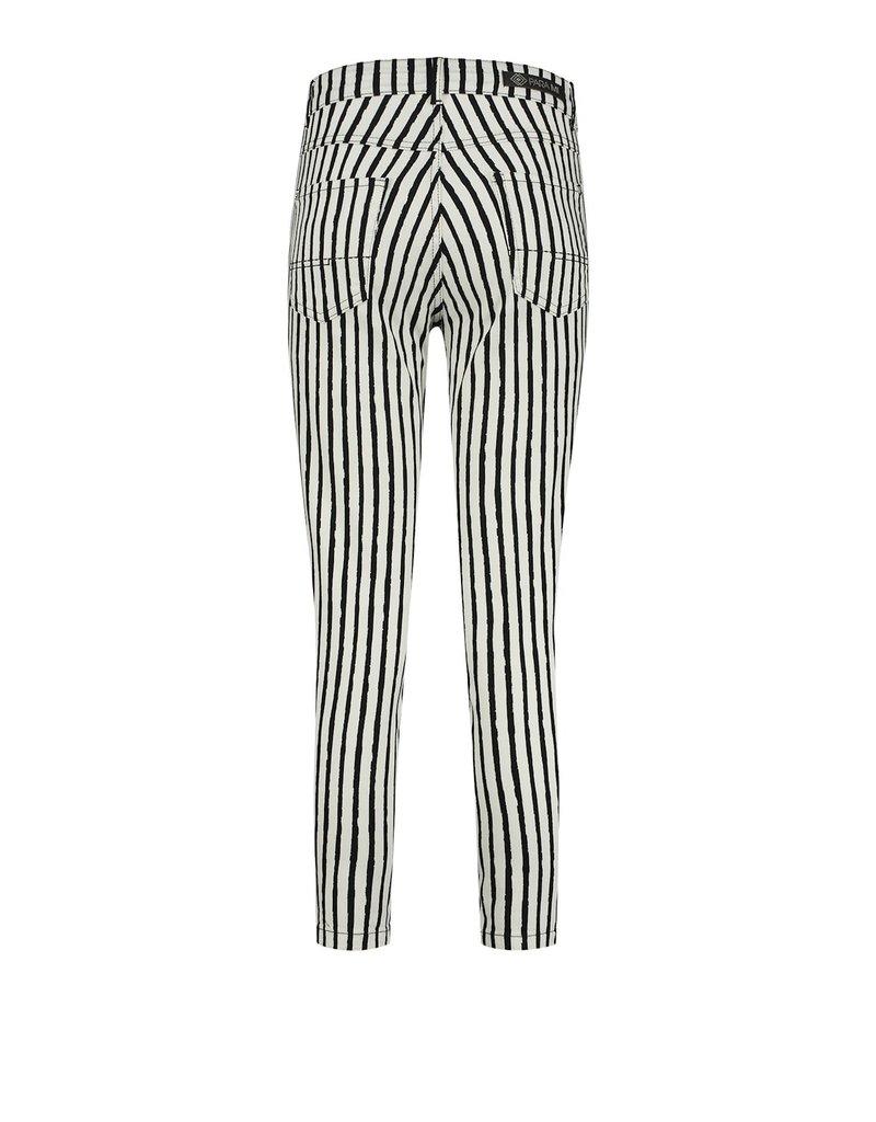 Para Mi SS212.138179 Painted Stripes broek Jill zwart Para mi