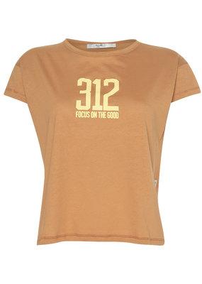 Penn&Ink N.Y t-shirt 312 Focus on the good S21T555 Cinnamon Penn&ink