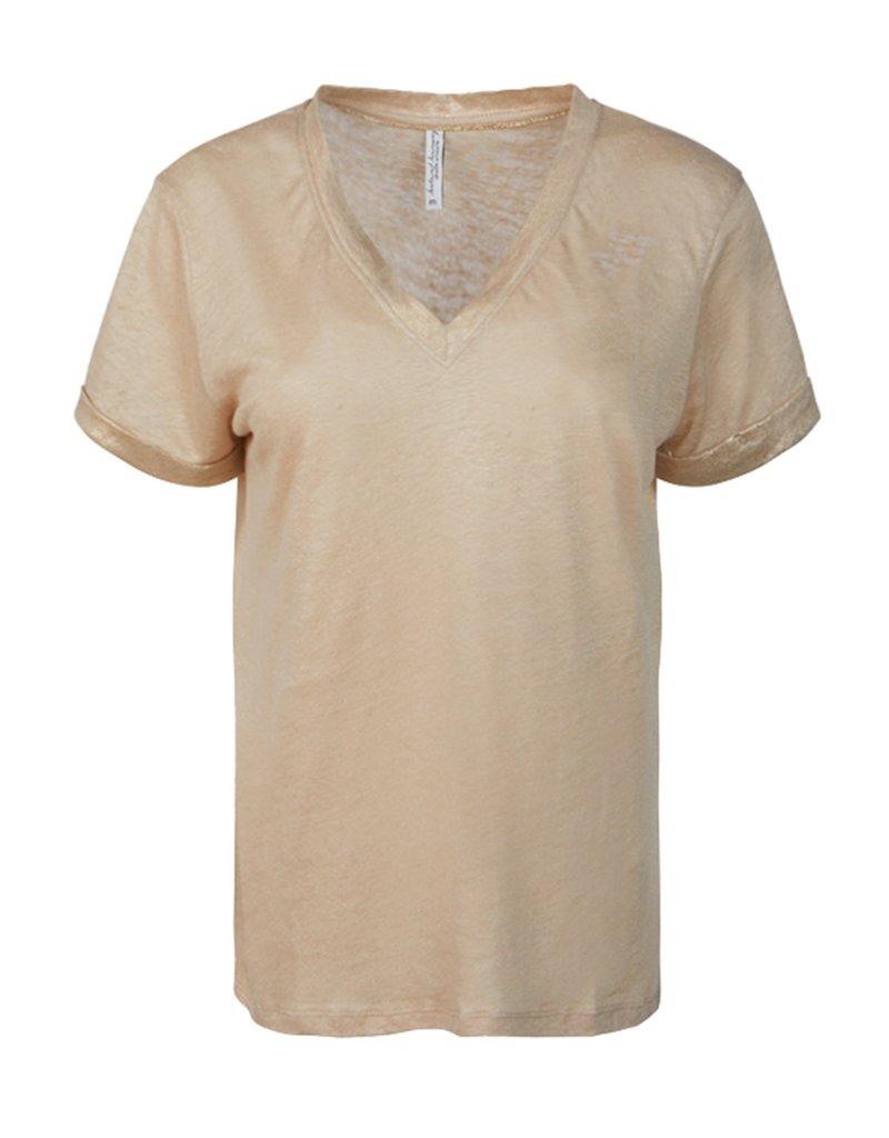 Summum Woman 3s4496-30220 Top foil linnen bruin Summum