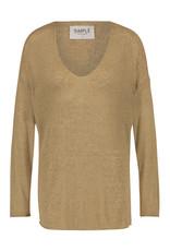 Simple 2404 Ester V-neck sweater Simple Sand