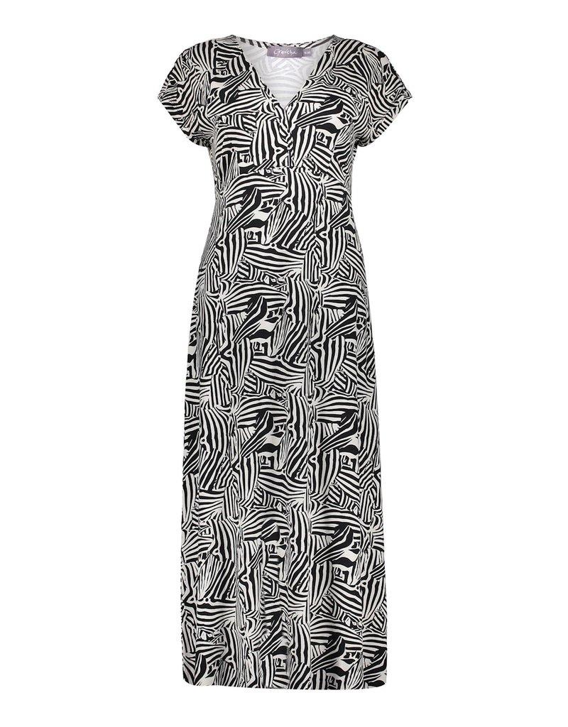 Geisha Jurk long short sleeve zwart 17395-60 JANE Geisha