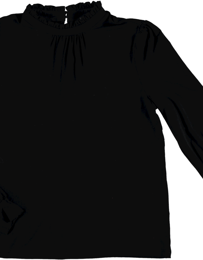 Geisha 12631-20 Top ruffles  Zwart Geisha