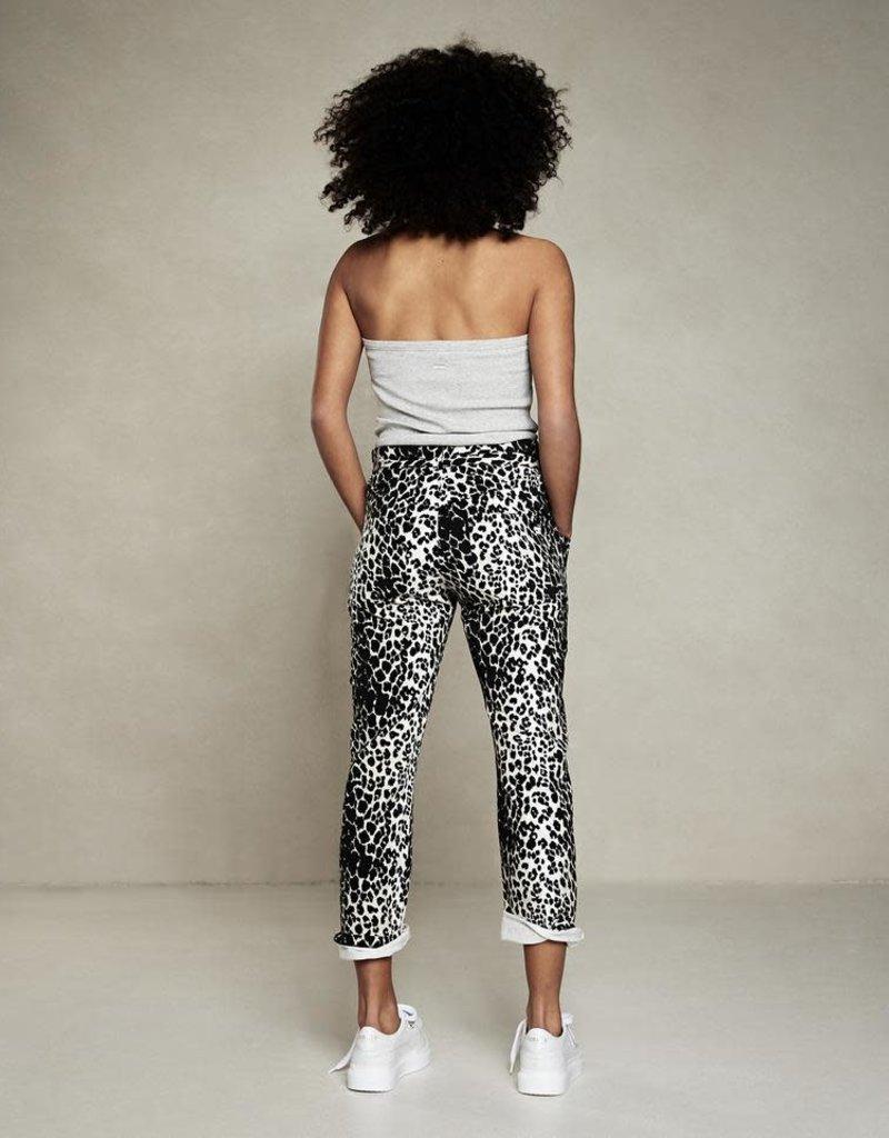 10Days high waist jogger leopard 20-053-1203 Ecru 10days