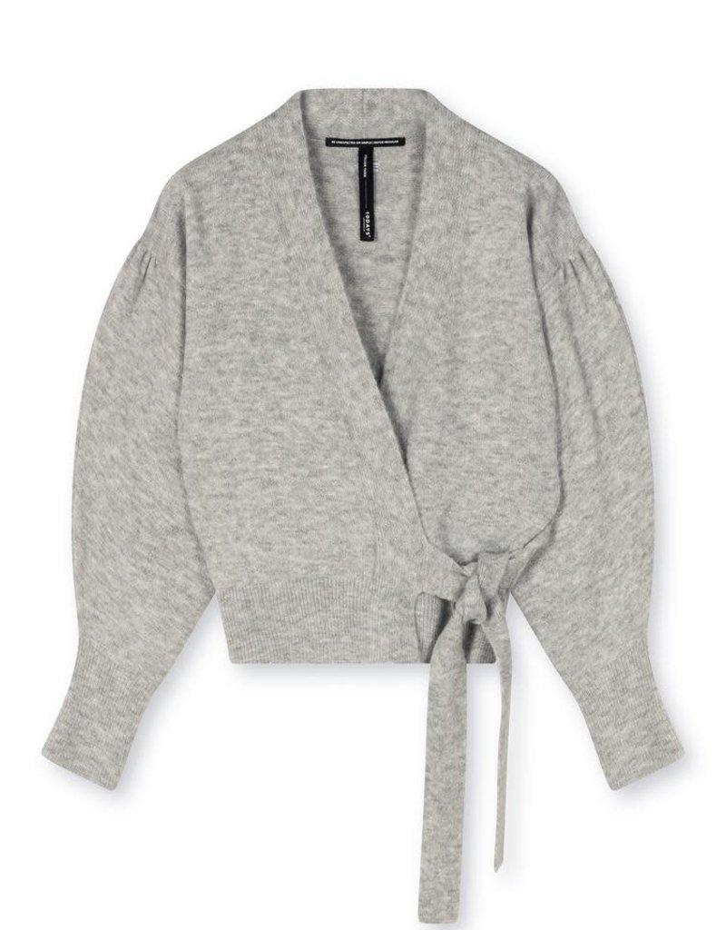 10Days wrap cardigan lurex 20-656-1203 Light grey melee 10Days