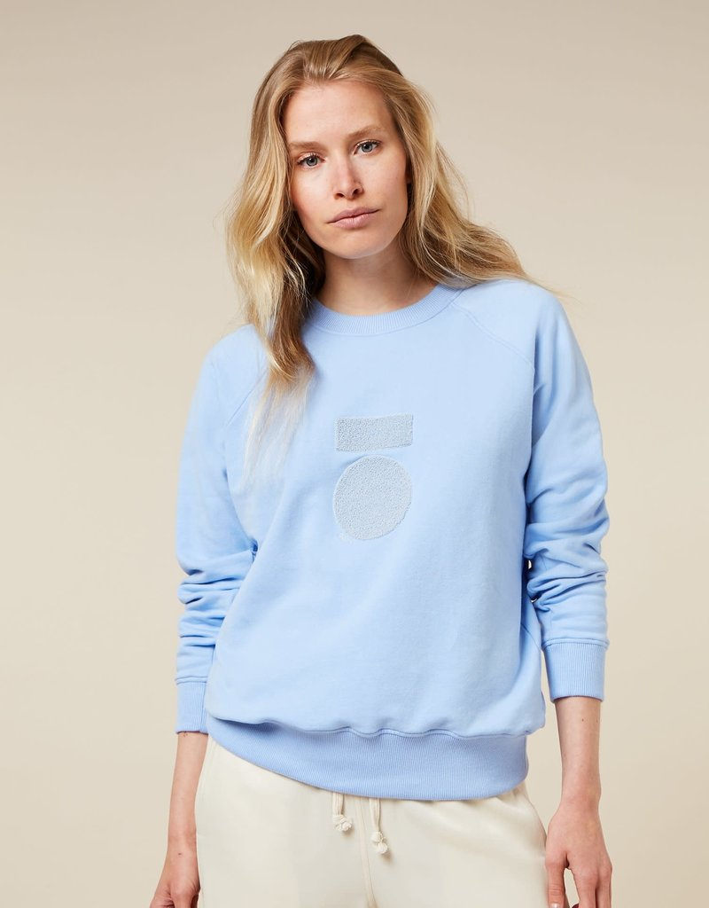 10Days sweater terry classic blue 20-812-1203 10Days