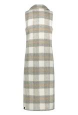 Nukus Rosa Gilet Check Long Grey FW211811212 Nukus