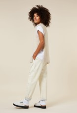 10Days leather statement jogger 20-031-1203 10Days New white