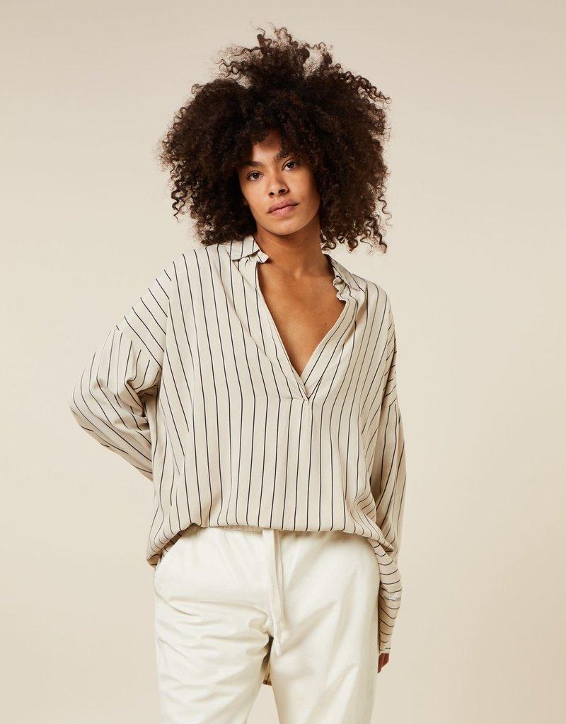 10Days blouse pinstripe 20-403-1203 cement 10Days