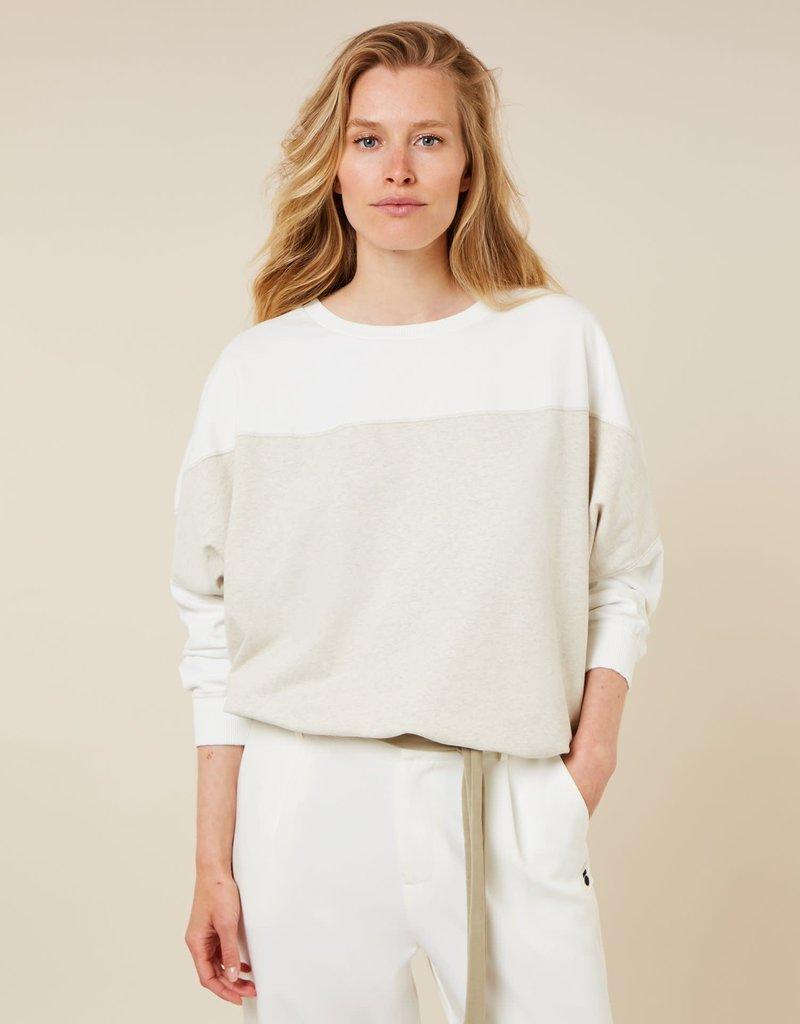 10Days baseball sweater soft white melee 20-817-1203 10Days