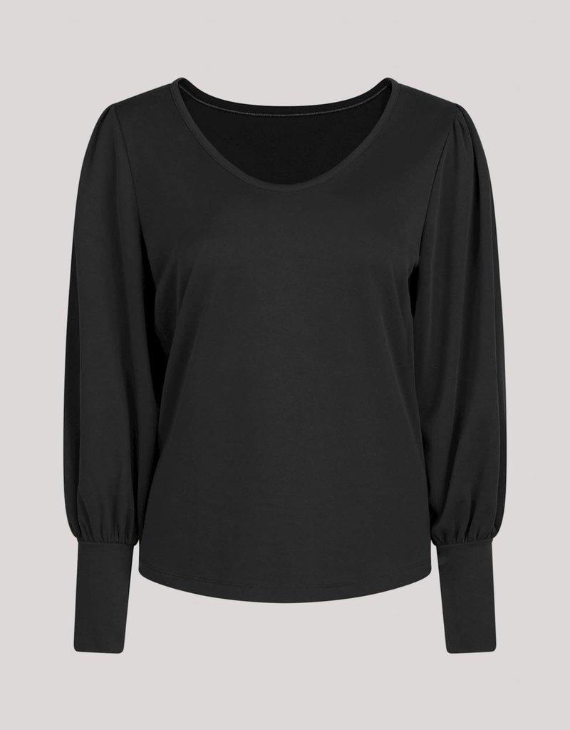 Summum Woman Top puff sleeve zwart 3s4585-30277 Summum