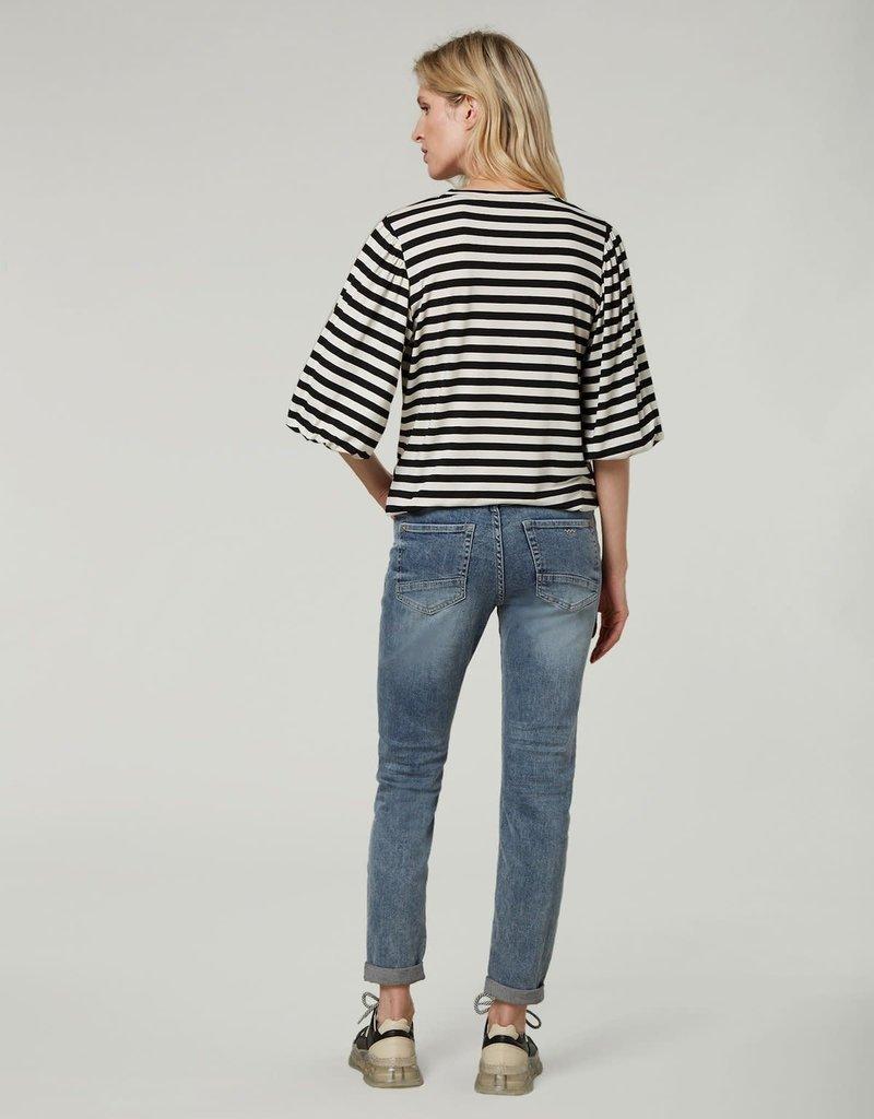 Summum Woman Top stripe black 3s4587-30287 Summum