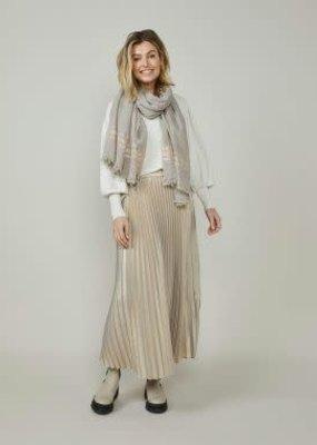Summum Woman Plisse skirt metallic Taupe Summum 6s1208-11479
