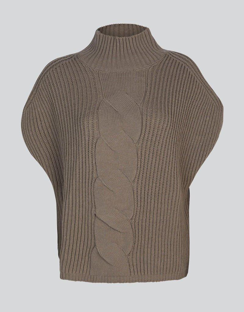 Summum Woman Sleeveless cable sweater tauoe 7s5593-7842 Summum