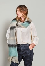 Summum Woman Stripes scarf ivory 8s763-8395 Summum