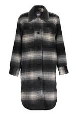 Geisha 18580-19 Jacket long blouse check Zwart Geisha