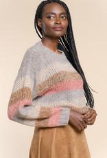 Geisha 14632-70 Pullover striped Grijs Geisha