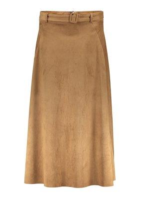 Geisha 16510-10 Skirt suedine belt Camel Geisha