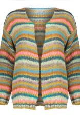Geisha 14633-70 Cardigan multi stripes multicolor Geisha