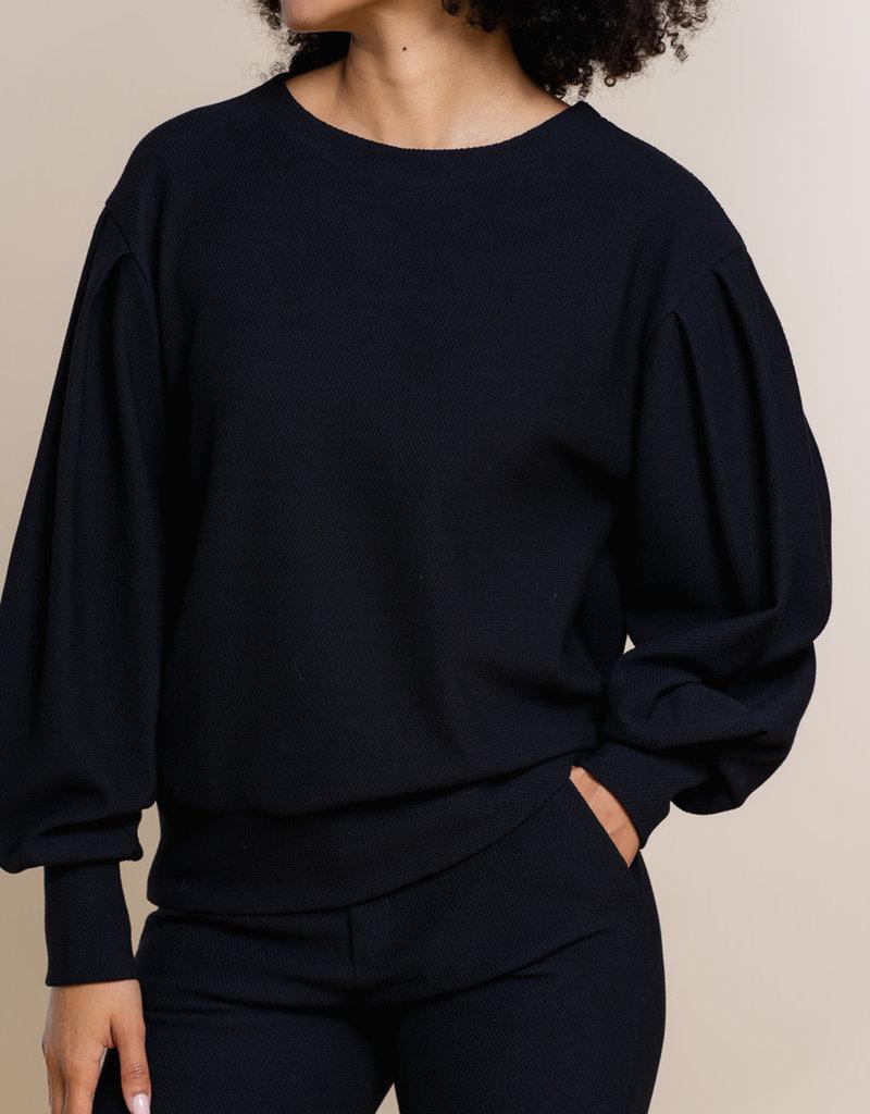 Geisha 12541-21 Sweat balloon sleeves zwart Geisha