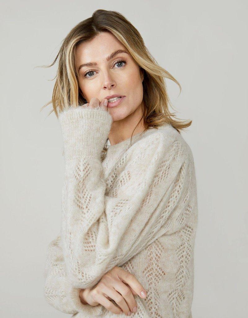 Summum Woman Ajour sweater feather ivoor 7s5596-7833 Summum