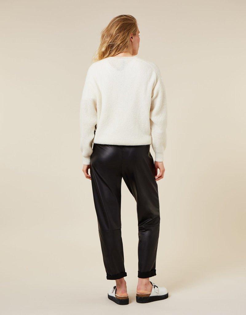 10Days 20-039 vegan leather pant 10Days black