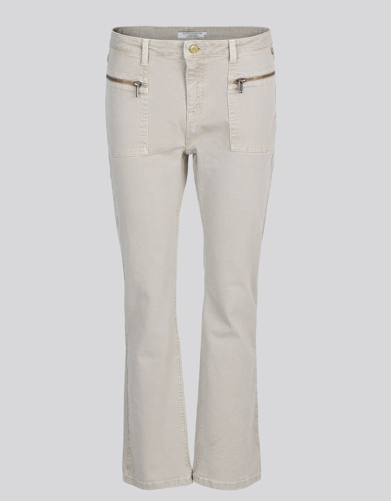 Summum Woman 4s2157-11483 Bootcut cropped pant heavy twill Taupe Summum