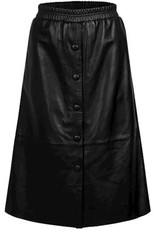 Summum Woman Skirt black leather 6s1204-11467 Summum