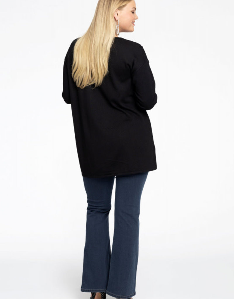 Yoek Pullover V basic zwart 8302645 Yoek