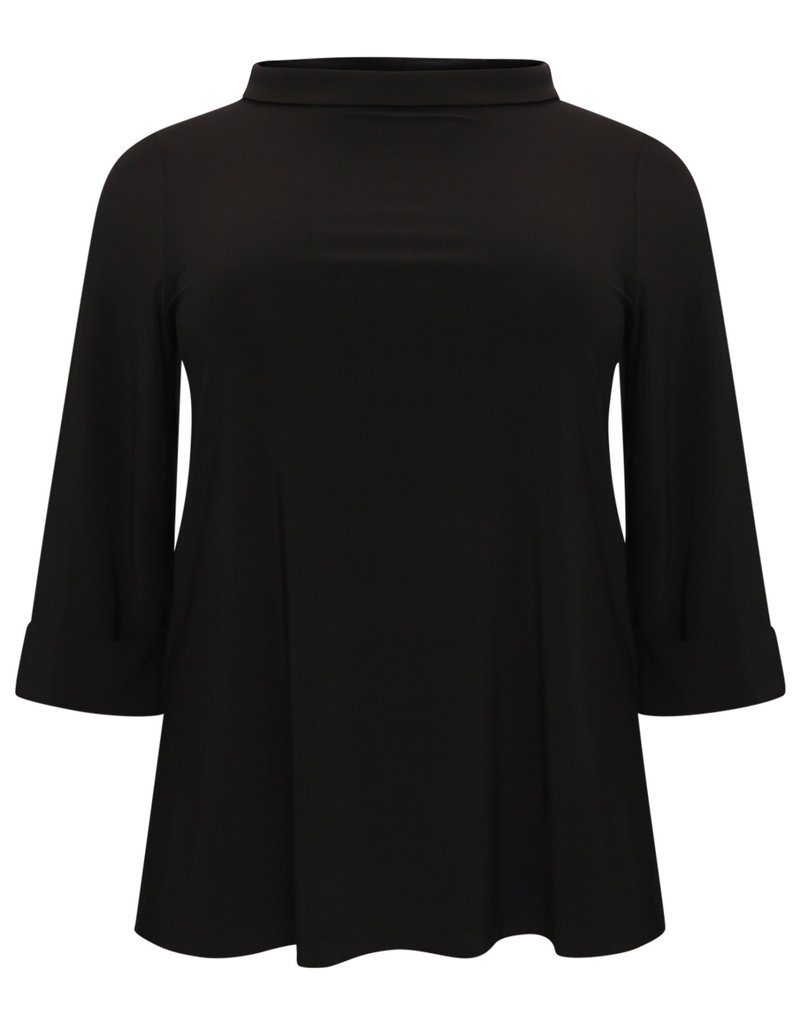 Yoek Shirt A-line turtle neck DOLCE Black 9514767 Yoek