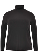 Yoek Tunic wide bottom high neck Black B4760 Yoek