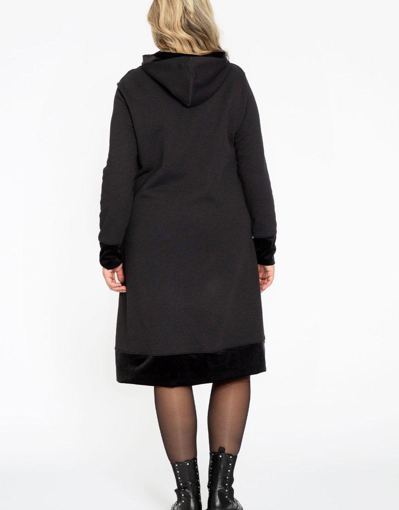 Yoek Hoodie dress Laissez Faire zwart WL957770 Yoek
