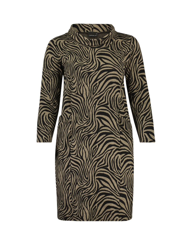 Ophilia Ophilia Mindy 21W dessin zebra taupe