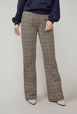 Summum Woman Trouser check jacquard bruin 4s2191-30267 Summum