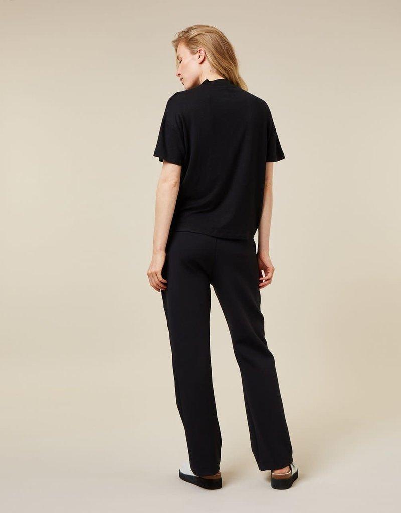 10Days 10Days wide leg pants 20-038-1203 zwart