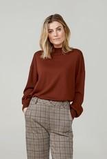 Summum Woman Mock neck sweater brown 7s5588-7832 Summum