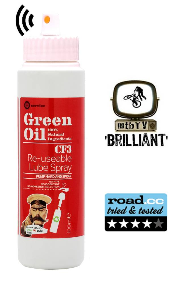 Green Oil CF3 Re-usable lube spray 100ml